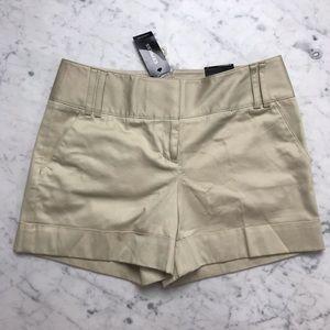 NWT Express Khaki Chino Tan Flat Front Shorts 2